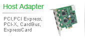 Host Adapter | PCI, PCI Express, PCI-X, CardBus, Express Card