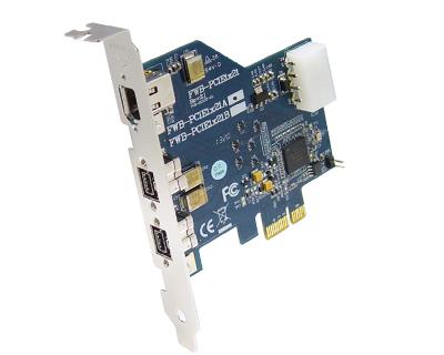 3 port IEEE 1394b Firewire 800 PCI Express Card | FWB-PCIE1X21A