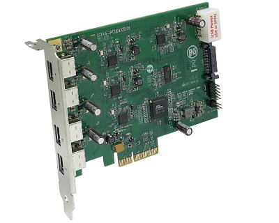 Quad Channel 4-port USB 3.0 to PCI Express Gen 2 Card Host Adapter