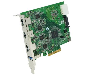 2 USB 3.0 Ports PCI-Express x1 Adapter Controller Card